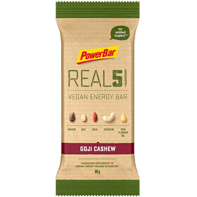 PowerBar REAL5 Bar Box 18x65g, Goji Cashew